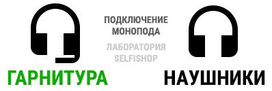 Подключение монопода - иконка гарнитуры да наушники