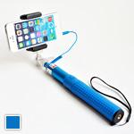 Селфи Трэвел (Синий) Телескопический монопод с кабелем для настоящего путешественника